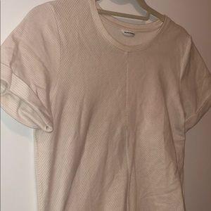 Club Monaco pink and white strip t shirt